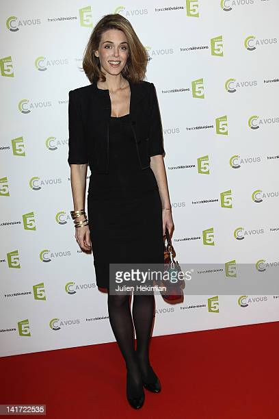 Julie Andrieu attends 'C a Vous' 500th Edition Celebration on March 22 2012 in Paris France
