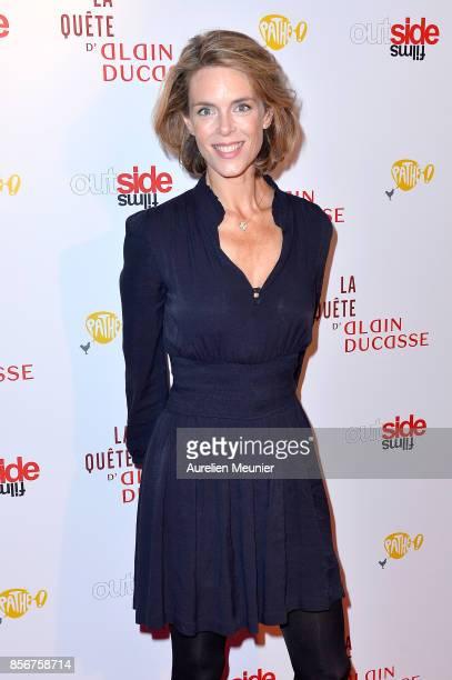 Julie Andrieu attends the La Quete d Alain Ducasse Paris premiere at Cinema du Pantheon on October 2 2017 in Paris France