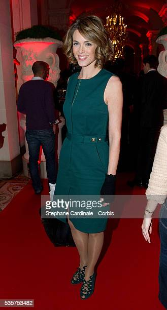 Julie Andrieu attends the TV Mag Anniversary 25th at Hotel Plaza Athenee in Paris