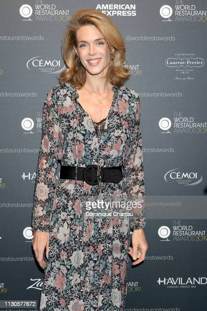 Julie Andrieu attends The World Restaurant Awards on 18th February 2019 at Palais Brongniart on February 18 2019 in Paris France