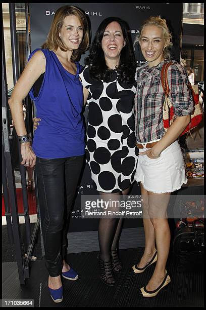 Julie Andrieu Barbara Rhil Alexandra Golovanoff at Inauguration Of First Boutique Barbara Rhil In Paris