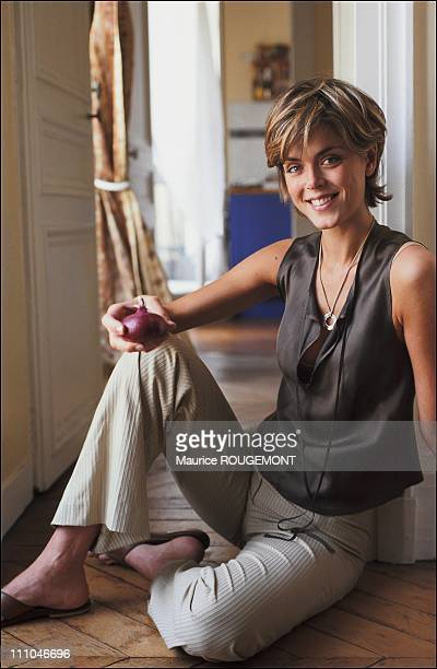 Julie Andrieu culinary journalist in France in 2004