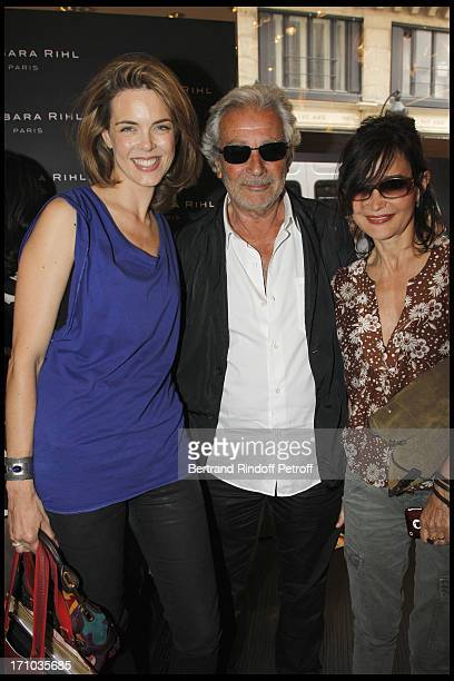 Julie Andrieu Pierre Arditi Evelyne Bouix at Inauguration Of First Boutique Barbara Rhil In Paris