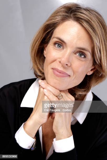 Julie Andrieu poses during a portrait session in Paris France on