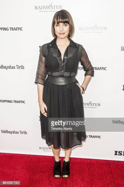 Julie Ann Emery attends the premiere of 'Stopping Traffic The Movement To End Sex Trafficking' at ArcLight Hollywood on September 26 2017 in...