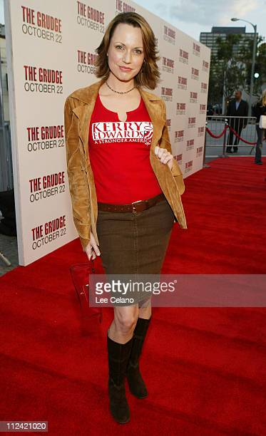 Julie Ann Emery during The Grudge Los Angeles Premiere Red Carpet at Mann Village Theater in Westwood California United States