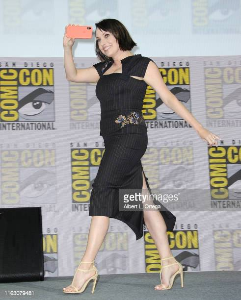 Julie Ann Emery speaks at the Preacher Panel during 2019 ComicCon International at San Diego Convention Center on July 19 2019 in San Diego California