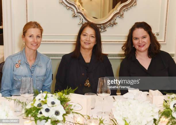Julie Anne Dorff Bonpoint Artistic Director Christine Innamorato and Sasha Slater attend the Bonpoint Mon Premier Diamant luncheon at The Connaught...