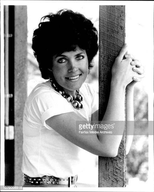 Julie Anthony at her Church Pt home with ***** September 10 1981