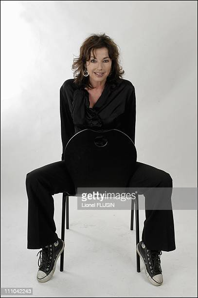 Julie Arnold at the humour festival of Saint Gervais les Bains in France on March 13 2003