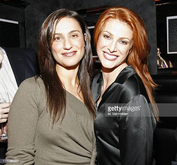 Julie B and Angie Everhart during JuliB Masquerade Hosted by Angie Everhart at The Night Hotel in New York City New York United States