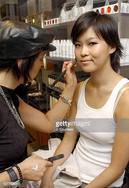 Julie Baird is styled by Jessica Rizzo during ROCAWEAR Summer Apparel Fashion Show Backstage at Macy's Herald Square in New York City New York United...