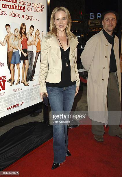 """Julie Benz and John Kassir during DreamWorks' """"She's the Man"""" Los Angeles Premiere - Red Carpet at Mann's Village in Westwood, California, United..."""
