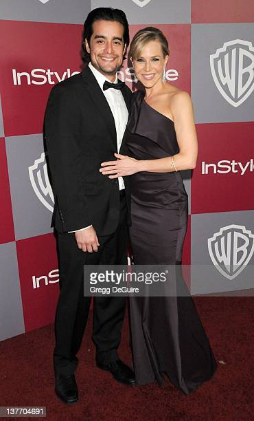 Julie Benz and Rich Orosco arrive at the 12th Annual Warner Bros and Instyle PostGolden Globe Party at the Beverly Hilton Hotel on January 16 2011 in...