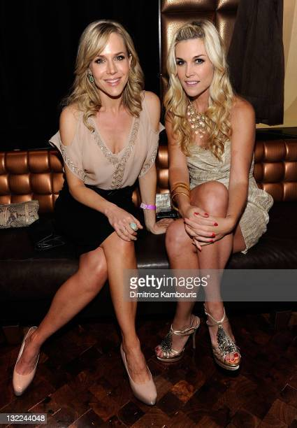 Julie Benz and Tinsley Mortimer attend the unvieling of The Decision a short film in support of the new Precision Foam Colour hosted by John Frieda...