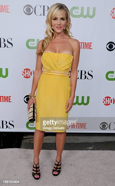 Julie Benz arrives for the CBS CW CBS Television Studios Showtime TCA Red Carpet Party at the Huntington Library in Pasadena California on August 3...