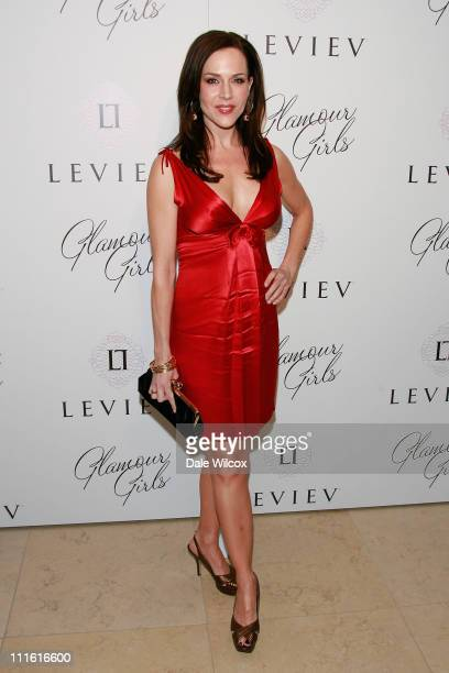 Julie Benz attends the book release party for Patrick McMullan's Glamour Girls at The Terrace at the Sunset Tower Hotel on February 19 2008 in West...