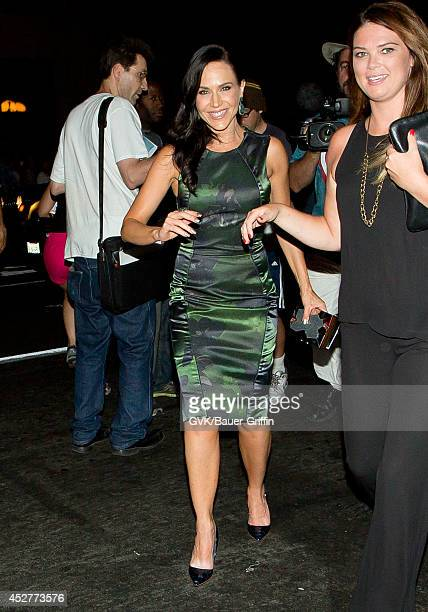 Julie Benz leaves the Hard Rock Hotel on July 26 2014 in San Diego California