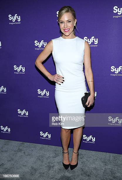 Julie Benz of Defiance attends Syfy 2013 Upfront at Silver Screen Studios at Chelsea Piers on April 10 2013 in New York City