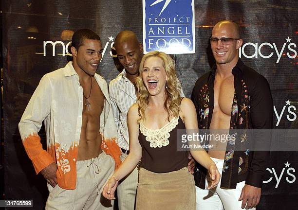 Julie Benz with models during Macy's and Details Magazine Present Fever A Fashion Gala to Benefit Project Angel Food at Macy's Men's Store Beverly...