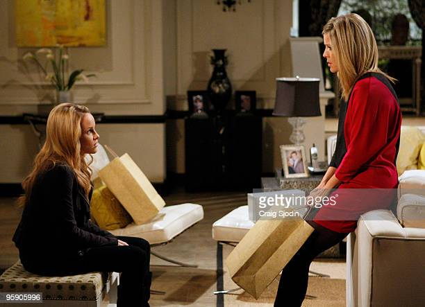 HOSPITAL Julie Berman and Laura Wright in a scene that airs the week of January 25 2010 on Walt Disney Television via Getty Images Daytime's General...
