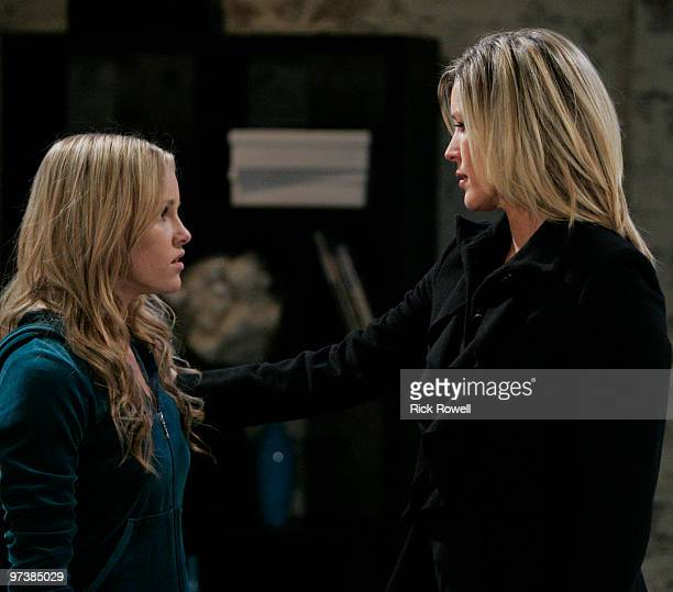 HOSPITAL Julie Berman and Laura Wright in a scene that airs the week of March 8 2010 on Walt Disney Television via Getty Images Daytime's General...