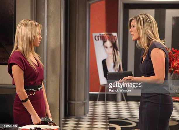 HOSPITAL Julie Berman and Laura Wright in a scene that airs the week of May 24 2010 on Walt Disney Television via Getty Images Daytime's General...
