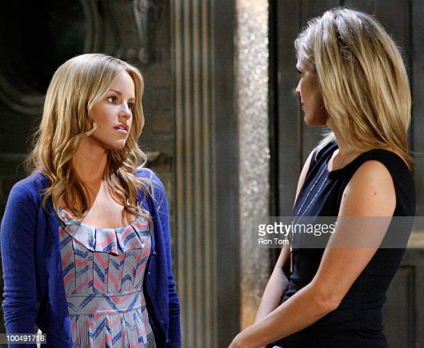 HOSPITAL Julie Berman and Laura Wright in a scene that airs the week of May 31 2010 on Walt Disney Television via Getty Images Daytime's General...