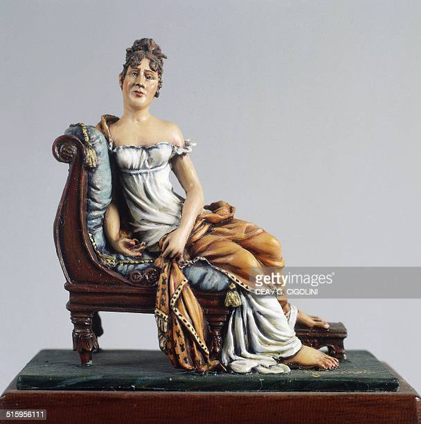 Julie Bernard Recamier wife of Napoleon's treasurer ca 1810 54 cm toy from the Napoleonic era France 19th century