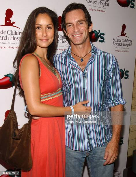 Julie Berry and Jeff Probst during Nicole Richie Jeff Probst Spice Up the Fight Against Childhood Cancer For St Jude Children's Research Hospital at...