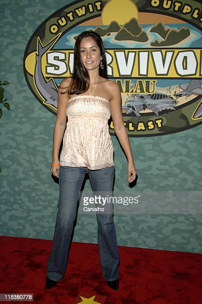 Julie Berry during Survivor Palau Finale/Reunion Show Arrivals at Ed Sullivan Theater in New York City New York United States