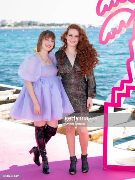 Julie Berthollet and Camille Berthollet attends the 4th Canneseries Festival - Day Six on October 13, 2021 in Cannes, France.