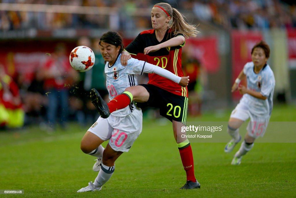Belgium v Japan - Women's International Friendly : Foto jornalística