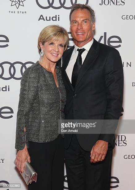 Julie Bishop and David Panton arrive ahead of the InStyle and Audi Women of Style Awards at The Star on May 12 2016 in Sydney Australia