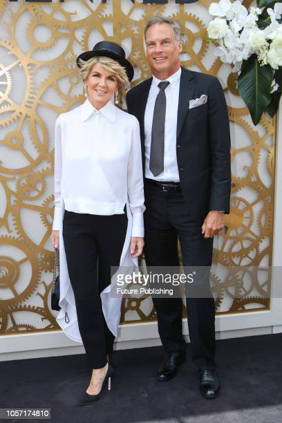 Julie Bishop and David Panton at Derby Day at the 2018 Melbourne Cup Carnival