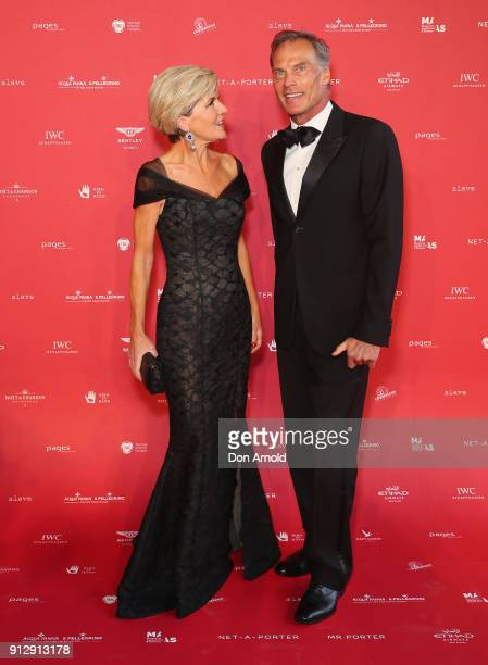 Julie Bishop and David Panton attend the inaugural Museum of Applied Arts and Sciences Centre for Fashion Bal at Powerhouse Museum on February 1 2018...