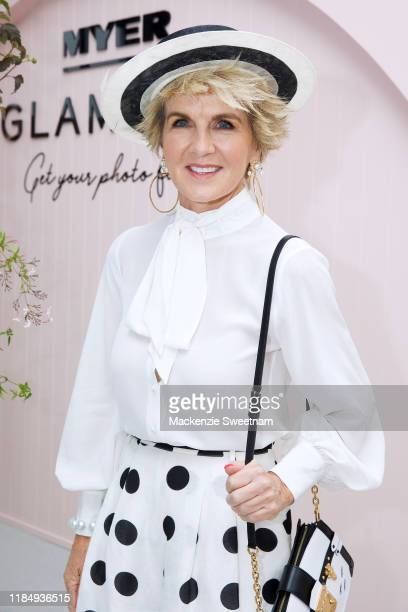 Julie Bishop attends the Myer Glam Bar during Derby Day at Flemington Racecourse on November 02 2019 in Melbourne Australia