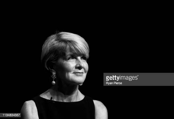 Julie Bishop Liberal Federal Member for Curtin speaks during the 'Leading While Female' Panel Discussion at Sydney Opera House on March 10 2019 in...
