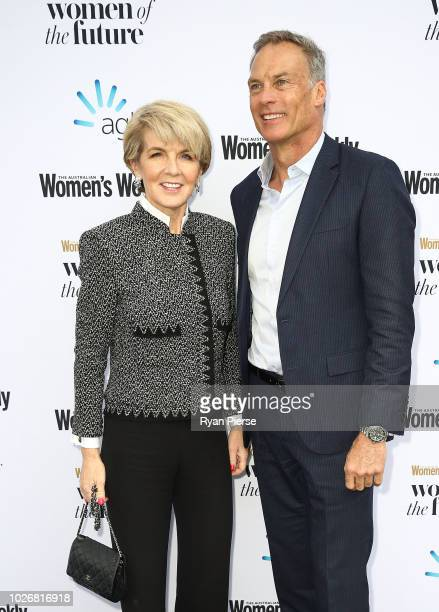 Julie Bishop Member for Curtin and partner David Panton attend the Women of the Future Awards at Quay on September 5 2018 in Sydney Australia
