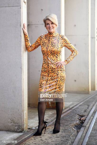 Julie Bishop poses during the First Nations Fashion + Design show during Afterpay Australian Fashion Week 2021 Resort '22 Collections at...