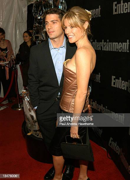 Julie Bowen and fiance Scott Phillips attend Entertainment Weekly's party celebrating their 10th Anniversary Oscar Party with a host of celebrities...