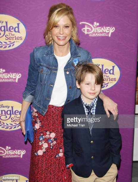 Julie Bowen and Oliver McLanahan Phillips arrive at Disney's Tangled Before Ever After held at The Paley Center for Media on March 4 2017 in Beverly...