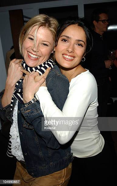 Julie Bowen and Salma Hayek during Launch party for Reach Your Peak at Chaiken Showroom in New York City New York United States