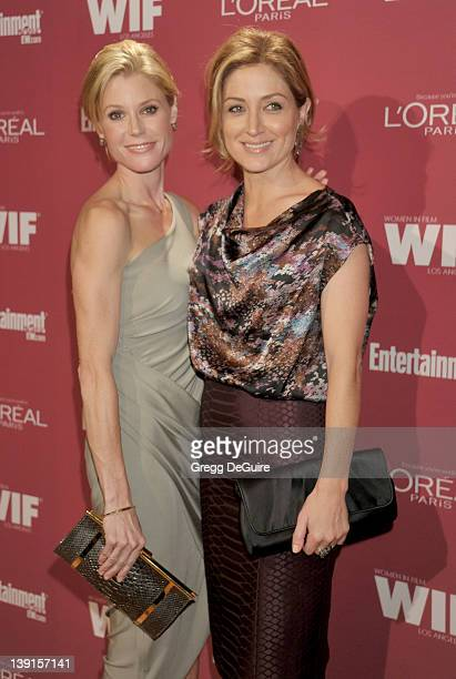 Julie Bowen and Sasha Alexander arrive at the 2011 Entertainment Weekly and Women In Film PreEmmy Party at BOA Steakhouse on September 17 2011 in...