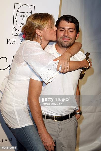 Julie Bowen and Scott Phillips attend Inaugural Kid Art Event A Benefit for PS Arts at LoFi on June 1 2006 in Los Angeles CA