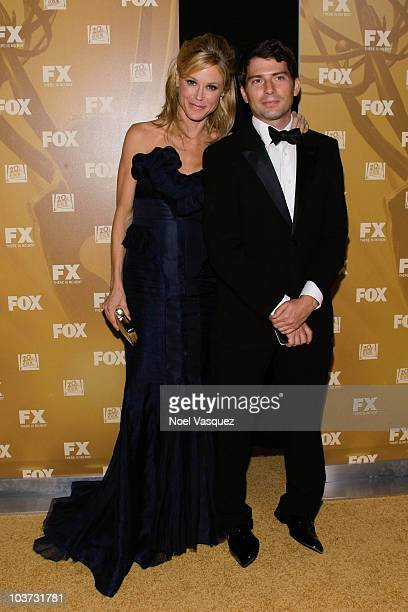 Julie Bowen and Scott Phillips attend the Fox's 62nd annual Emmy award nominees celebration at Cicada on August 29 2010 in Los Angeles California