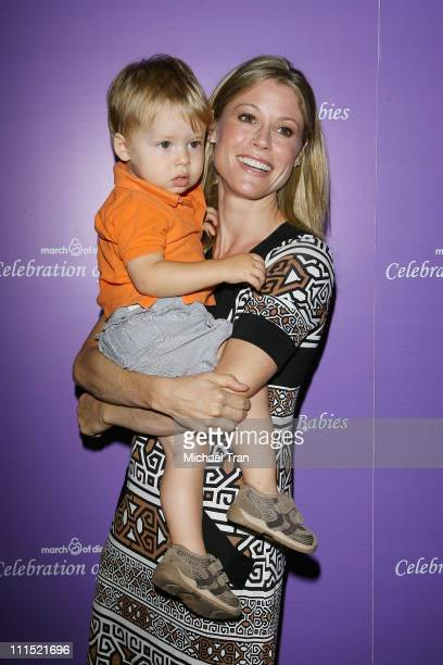 Julie Bowen and son Oliver arrive at the 'Celebration of Babies' silent auction and luncheon to benefit the March of Dimes held at The Beverly Hilton...