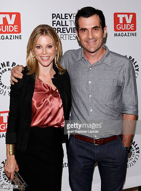 Julie Bowen and Ty Burrell arrives at The PaleyFest TV Guide Magazine's ABC Fall TV Preview Party at The Paley Center for Media on September 15 2009...