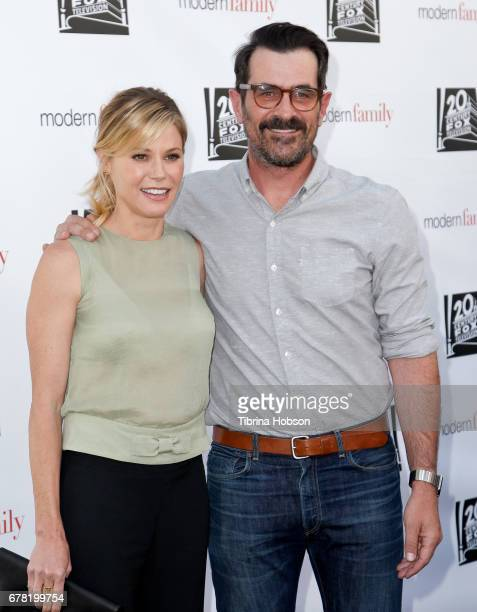 Julie Bowen and Ty Burrell attend ABC's 'Modern Family' ATAS event at Saban Media Center on May 3 2017 in North Hollywood California