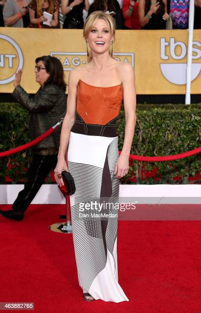 Julie Bowen arrives at the 20th Annual Screen Actors Guild Awards at the Shrine Auditorium on January 18 2014 in Los Angeles California